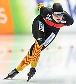 Subject: Jennifer Bay; Tags: Athlet, Athlete, Sportler, Wettkämpfer, Sportsman, Damen, Ladies, Frau, Mesdames, Female, Women, Eisschnelllauf, Speed skating, Schaatsen, GER, Germany, Deutschland, Jennifer Bay, Sport; PhotoID: 2014-03-08-0142