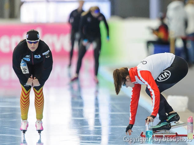 Jennifer Plate; Tags: Athlet, Athlete, Sportler, Wettkämpfer, Sportsman, Damen, Ladies, Frau, Mesdames, Female, Women, Eisschnelllauf, Speed skating, Schaatsen, GER, Germany, Deutschland, Jennifer Plate, Sport; PhotoID: 2014-03-08-0359