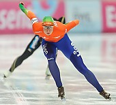 Subject: Margot Boer; Tags: Athlet, Athlete, Sportler, Wettkämpfer, Sportsman, Damen, Ladies, Frau, Mesdames, Female, Women, Eisschnelllauf, Speed skating, Schaatsen, Margot Boer, NED, Netherlands, Niederlande, Holland, Dutch, Sport; PhotoID: 2014-03-09-0418
