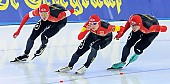 Subject: Bailin Li, Longjiang Sun, Rehanbai Talabuhan; Tags: Athlet, Athlete, Sportler, Wettkämpfer, Sportsman, Bailin Li, CHN, China, Volksrepublik China, Detail, Eisschnelllauf, Speed skating, Schaatsen, Herren, Men, Gentlemen, Mann, Männer, Gents, Sirs, Mister, Longjiang Sun, Rehanbai Talabuhan, Sport, Team, Team Pursuit, Mannschaftslauf, Verfolgungsrennen, Jagdrennen, Mannschaftsverfolgung, Teamverfolgung; PhotoID: 2014-12-05-1666