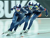 Subject: Bo-Reum Kim, Seon-Yeong No, Ye-Jin Jeon; Tags: Athlet, Athlete, Sportler, Wettkämpfer, Sportsman, Bo-Reum Kim, Damen, Ladies, Frau, Mesdames, Female, Women, Detail, Eisschnelllauf, Speed skating, Schaatsen, KOR, South Korea, Südkorea, Seon-Yeong No, Sport, Team, Team Pursuit, Mannschaftslauf, Verfolgungsrennen, Jagdrennen, Mannschaftsverfolgung, Teamverfolgung, Ye-Jin Jun; PhotoID: 2015-02-14-0664