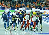 Subject: Bo-Reum Kim, Francesca Lollobrigida, Ivanie Blondin, Kali Christ, Miho Takagi, Nana Takagi; Tags: Athlet, Athlete, Sportler, Wettkämpfer, Sportsman, Bo-Reum Kim, CAN, Canada, Kanada, Damen, Ladies, Frau, Mesdames, Female, Women, Detail, Eisschnelllauf, Speed skating, Schaatsen, Francesca Lollobrigida, ITA, Italy, Italien, Ivanie Blondin, JPN, Japan, Nippon, KOR, South Korea, Südkorea, Kali Christ, Mass Start, Miho Takagi, Nana Takagi, Sport; PhotoID: 2015-02-15-0642