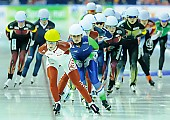 Subject: Irene Schouten, Ivanie Blondin; Tags: Athlet, Athlete, Sportler, Wettkämpfer, Sportsman, CAN, Canada, Kanada, Damen, Ladies, Frau, Mesdames, Female, Women, Detail, Eisschnelllauf, Speed skating, Schaatsen, Irene Schouten, Ivanie Blondin, Mass Start, NED, Netherlands, Niederlande, Holland, Dutch, Sport; PhotoID: 2015-02-15-0652