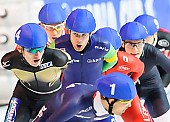 Subject: Arjan Stroetinga, Shane Williamson; Tags: Sport, Shane Williamson, NED, Netherlands, Niederlande, Holland, Dutch, Mass Start, JPN, Japan, Nippon, Herren, Men, Gentlemen, Mann, Männer, Gents, Sirs, Mister, Eisschnelllauf, Speed skating, Schaatsen, Detail, Athlet, Athlete, Sportler, Wettkämpfer, Sportsman, Arjan Stroetinga; PhotoID: 2015-03-22-0346