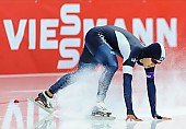 Subject: Hyeong-Joon Joo; Tags: Athlet, Athlete, Sportler, Wettkämpfer, Sportsman, Detail, Eisschnelllauf, Speed skating, Schaatsen, Herren, Men, Gentlemen, Mann, Männer, Gents, Sirs, Mister, Hyeong-Joon Joo, KOR, South Korea, Südkorea, Sport, Sturz, Fall, Hinfallen, Stürzen, Downfall; PhotoID: 2015-12-06-0597