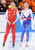 Subject: Aleksandra Goss, Natalia Voronina; Tags: Sport, RUS, Russian Federation, Russische Föderation, Russia, POL, Poland, Polen, Natalia Voronina, Eisschnelllauf, Speed skating, Schaatsen, Damen, Ladies, Frau, Mesdames, Female, Women, Athlet, Athlete, Sportler, Wettkämpfer, Sportsman, Aleksandra Goss; PhotoID: 2016-03-05-0217