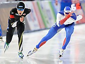Subject: Sergey Gryaztsov, Shane Williamson; Tags: Sport, Shane Williamson, Sergey Gryaztsov, RUS, Russian Federation, Russische Föderation, Russia, JPN, Japan, Nippon, Herren, Men, Gentlemen, Mann, Männer, Gents, Sirs, Mister, Eisschnelllauf, Speed skating, Schaatsen, Athlet, Athlete, Sportler, Wettkämpfer, Sportsman; PhotoID: 2016-03-06-0032
