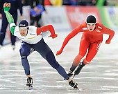 Subject: Andrea Giovannini, Simen Spieler Nilsen; Tags: Andrea Giovannini, Athlet, Athlete, Sportler, Wettkämpfer, Sportsman, Eisschnelllauf, Speed skating, Schaatsen, Herren, Men, Gentlemen, Mann, Männer, Gents, Sirs, Mister, ITA, Italy, Italien, NOR, Norway, Norwegen, Simen Spieler Nilsen, Sport; PhotoID: 2016-03-06-0083