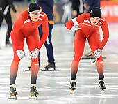 Subject: Håvard Bøkko, Sverre Lunde Pedersen; Tags: Athlet, Athlete, Sportler, Wettkämpfer, Sportsman, Eisschnelllauf, Speed skating, Schaatsen, Herren, Men, Gentlemen, Mann, Männer, Gents, Sirs, Mister, Håvard Bøkko, NOR, Norway, Norwegen, Sport, Sverre Lunde Pedersen; PhotoID: 2016-03-06-0110