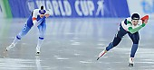 Subject: Elina Risku, Francesca Bettrone; Tags: Sport, ITA, Italy, Italien, Francesca Bettrone, FIN, Finland, Finnland, Elina Risku, Eisschnelllauf, Speed skating, Schaatsen, Damen, Ladies, Frau, Mesdames, Female, Women, Athlet, Athlete, Sportler, Wettkämpfer, Sportsman; PhotoID: 2017-01-27-0257
