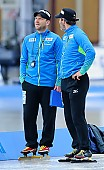 Subject: Danny Leger, Jan van Veen; Tags: Trainer, Coach, Betreuer, Sport, Jan van Veen, GER, Germany, Deutschland, Eisschnelllauf, Speed skating, Schaatsen, Danny Leger; PhotoID: 2017-01-27-0405