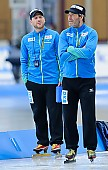 Subject: Danny Leger, Jan van Veen; Tags: Trainer, Coach, Betreuer, Sport, Jan van Veen, GER, Germany, Deutschland, Eisschnelllauf, Speed skating, Schaatsen, Danny Leger; PhotoID: 2017-01-27-0407