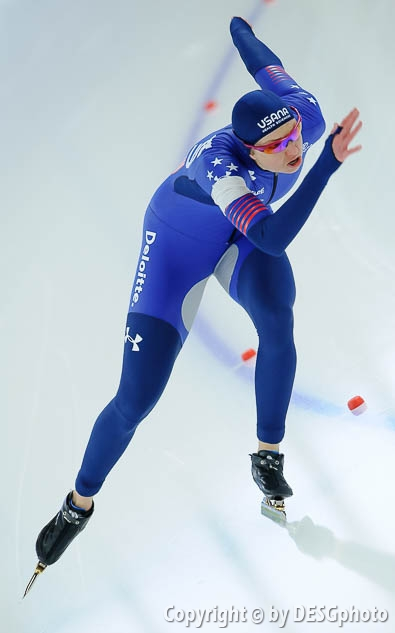 Rebekah Bradford-Plath; Tags: USA, United States, Vereinigte Staaten von Amerika, Sport, Rebekah Bradford, Eisschnelllauf, Speed skating, Schaatsen, Damen, Ladies, Frau, Mesdames, Female, Women, Athlet, Athlete, Sportler, Wettkämpfer, Sportsman; PhotoID: 2017-01-28-0009