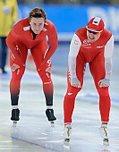 Subject: Artur Nogal, Henrik Fagerli Rukke; Tags: Sport, POL, Poland, Polen, NOR, Norway, Norwegen, Herren, Men, Gentlemen, Mann, Männer, Gents, Sirs, Mister, Henrik Fagerli Rukke, Eisschnelllauf, Speed skating, Schaatsen, Athlet, Athlete, Sportler, Wettkämpfer, Sportsman, Artur Nogal; PhotoID: 2017-01-28-0188