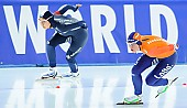 Subject: Min-Ji Kim, Sanneke de Neeling; Tags: Sport, Sanneke de Neeling, NED, Netherlands, Niederlande, Holland, Dutch, Min-Ji Kim, KOR, South Korea, Südkorea, Eisschnelllauf, Speed skating, Schaatsen, Damen, Ladies, Frau, Mesdames, Female, Women, Athlet, Athlete, Sportler, Wettkämpfer, Sportsman; PhotoID: 2017-01-28-0467