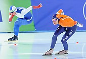 Subject: Angelina Golikova, Bo van der Werff; Tags: Sport, RUS, Russian Federation, Russische Föderation, Russia, NED, Netherlands, Niederlande, Holland, Dutch, Eisschnelllauf, Speed skating, Schaatsen, Damen, Ladies, Frau, Mesdames, Female, Women, Bo van der Werff, Athlet, Athlete, Sportler, Wettkämpfer, Sportsman, Angelina Golikova; PhotoID: 2017-01-28-0488