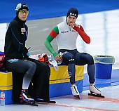 Subject: Nicola Tumolero, Ryosuke Tsuchiya; Tags: Sport, Ryosuke Tsuchiya, Nicola Tumolero, JPN, Japan, Nippon, ITA, Italy, Italien, Herren, Men, Gentlemen, Mann, Männer, Gents, Sirs, Mister, Eisschnelllauf, Speed skating, Schaatsen, Athlet, Athlete, Sportler, Wettkämpfer, Sportsman; PhotoID: 2017-01-28-0695