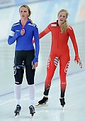Subject: Camilla Lund, Saskia Alusalu; Tags: Sport, Saskia Alusalu, NOR, Norway, Norwegen, Eisschnelllauf, Speed skating, Schaatsen, EST, Estonia, Estland, Damen, Ladies, Frau, Mesdames, Female, Women, Camilla Lund, Athlet, Athlete, Sportler, Wettkämpfer, Sportsman; PhotoID: 2017-01-29-0277