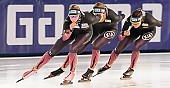 Subject: Bente Pflug, Gabriele Hirschbichler, Roxanne Dufter; Tags: Athlet, Athlete, Sportler, Wettkämpfer, Sportsman, Bente Kraus, Damen, Ladies, Frau, Mesdames, Female, Women, Eisschnelllauf, Speed skating, Schaatsen, GER, Germany, Deutschland, Gabriele Hirschbichler, Roxanne Dufter, Sport; PhotoID: 2017-03-11-0044