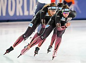 Subject: Bente Pflug, Gabriele Hirschbichler, Roxanne Dufter; Tags: Athlet, Athlete, Sportler, Wettkämpfer, Sportsman, Bente Kraus, Damen, Ladies, Frau, Mesdames, Female, Women, Eisschnelllauf, Speed skating, Schaatsen, GER, Germany, Deutschland, Gabriele Hirschbichler, Roxanne Dufter, Sport; PhotoID: 2017-03-11-0045