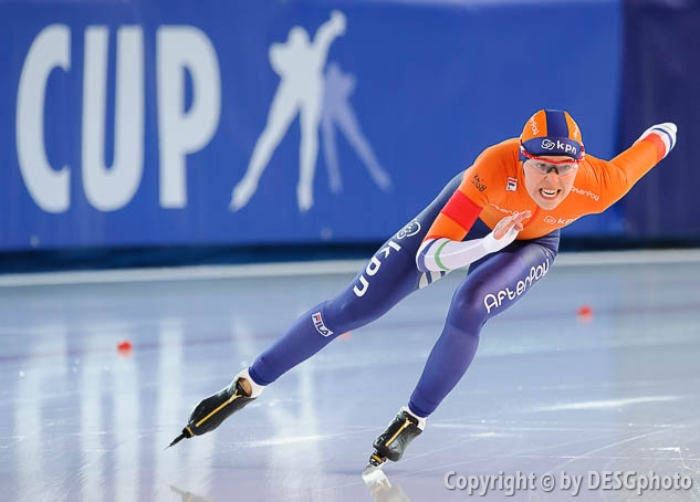 Floor van den Brandt; Tags: Athlet, Athlete, Sportler, Wettkämpfer, Sportsman, Damen, Ladies, Frau, Mesdames, Female, Women, Eisschnelllauf, Speed skating, Schaatsen, Floor van den Brandt, NED, Netherlands, Niederlande, Holland, Dutch, Sport; PhotoID: 2017-03-11-0079