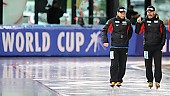 Subject: Danny Leger, Jan van Veen; Tags: Danny Leger, Eisschnelllauf, Speed skating, Schaatsen, GER, Germany, Deutschland, Jan van Veen, Sport, Trainer, Coach, Betreuer; PhotoID: 2017-03-11-0255