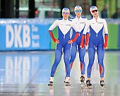 Subject: Elizaveta Kazelina, Natalia Voronina, Olga Graf; Tags: Athlet, Athlete, Sportler, Wettkämpfer, Sportsman, Damen, Ladies, Frau, Mesdames, Female, Women, Eisschnelllauf, Speed skating, Schaatsen, Jelizaveta Kazelina, Natalia Voronina, Olga Graf, RUS, Russian Federation, Russische Föderation, Russia, Sport; PhotoID: 2017-03-11-0257