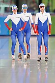Subject: Elizaveta Kazelina, Natalia Voronina, Olga Graf; Tags: Athlet, Athlete, Sportler, Wettkämpfer, Sportsman, Damen, Ladies, Frau, Mesdames, Female, Women, Eisschnelllauf, Speed skating, Schaatsen, Jelizaveta Kazelina, Natalia Voronina, Olga Graf, RUS, Russian Federation, Russische Föderation, Russia, Sport; PhotoID: 2017-03-11-0258
