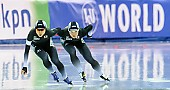 Subject: Miho Takagi, Nao Kodaira; Tags: Athlet, Athlete, Sportler, Wettkämpfer, Sportsman, Damen, Ladies, Frau, Mesdames, Female, Women, Eisschnelllauf, Speed skating, Schaatsen, JPN, Japan, Nippon, Miho Takagi, Nao Kodaira, Sport; PhotoID: 2017-03-11-0435