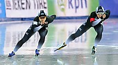 Subject: Miho Takagi, Nao Kodaira; Tags: Athlet, Athlete, Sportler, Wettkämpfer, Sportsman, Damen, Ladies, Frau, Mesdames, Female, Women, Eisschnelllauf, Speed skating, Schaatsen, JPN, Japan, Nippon, Miho Takagi, Nao Kodaira, Sport; PhotoID: 2017-03-11-0436