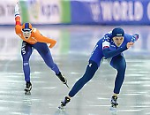 Subject: Heather Bergsma, Marrit Leenstra; Tags: Athlet, Athlete, Sportler, Wettkämpfer, Sportsman, Damen, Ladies, Frau, Mesdames, Female, Women, Eisschnelllauf, Speed skating, Schaatsen, Heather Bergsma, Marrit Leenstra, NED, Netherlands, Niederlande, Holland, Dutch, Sport, USA, United States, Vereinigte Staaten von Amerika; PhotoID: 2017-03-11-0470