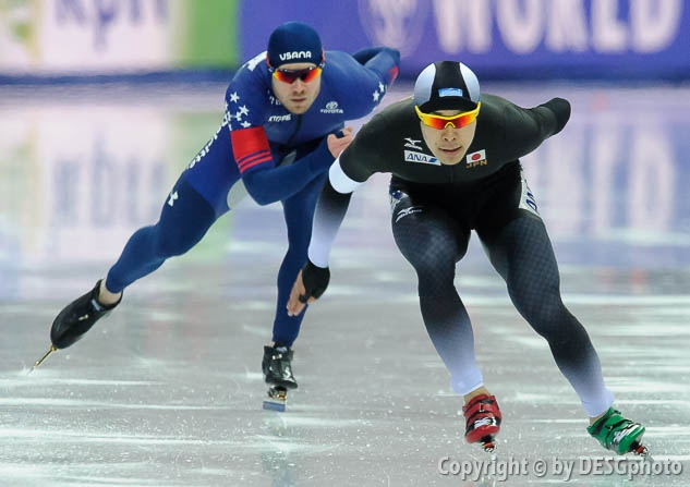 Joey Mantia, Takuro Oda; Tags: Athlet, Athlete, Sportler, Wettkämpfer, Sportsman, Eisschnelllauf, Speed skating, Schaatsen, Herren, Men, Gentlemen, Mann, Männer, Gents, Sirs, Mister, JPN, Japan, Nippon, Joey Mantia, Sport, Takuro Oda, USA, United States, Vereinigte Staaten von Amerika; PhotoID: 2017-03-11-0517