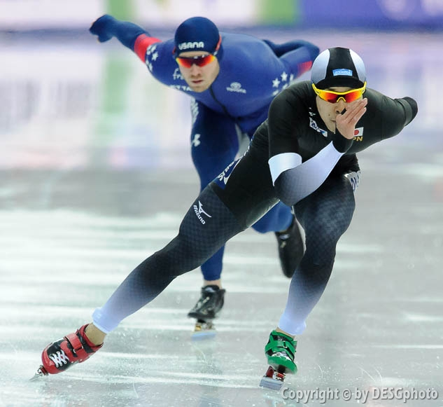 Joey Mantia, Takuro Oda; Tags: Athlet, Athlete, Sportler, Wettkämpfer, Sportsman, Eisschnelllauf, Speed skating, Schaatsen, Herren, Men, Gentlemen, Mann, Männer, Gents, Sirs, Mister, JPN, Japan, Nippon, Joey Mantia, Sport, Takuro Oda, USA, United States, Vereinigte Staaten von Amerika; PhotoID: 2017-03-11-0519