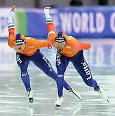 Subject: Kai Verbij, Kjeld Nuis; Tags: Athlet, Athlete, Sportler, Wettkämpfer, Sportsman, Eisschnelllauf, Speed skating, Schaatsen, Herren, Men, Gentlemen, Mann, Männer, Gents, Sirs, Mister, Kai Verbij, Kjeld Nuis, NED, Netherlands, Niederlande, Holland, Dutch, Sport; PhotoID: 2017-03-11-0599