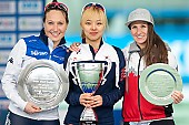 Subject: Bo-Reum Kim, Francesca Lollobrigida, Ivanie Blondin; Tags: Athlet, Athlete, Sportler, Wettkämpfer, Sportsman, Bo-Reum Kim, CAN, Canada, Kanada, Damen, Ladies, Frau, Mesdames, Female, Women, Detail, Eisschnelllauf, Speed skating, Schaatsen, Francesca Lollobrigida, ITA, Italy, Italien, Ivanie Blondin, KOR, South Korea, Südkorea, Siegerehrung, Victory ceremony, Preisverleihung, Ehrung, Award ceremony, Award, Prize Giving, Sport; PhotoID: 2017-03-12-0463