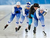 Subject: Harri Levo, Juho Vaittinen, Miro Puolakka, Samuli Suomalainen; Tags: Athlet, Athlete, Sportler, Wettkämpfer, Sportsman, Eisschnelllauf, Speed skating, Schaatsen, FIN, Finland, Finnland, Harri Levo, Herren, Men, Gentlemen, Mann, Männer, Gents, Sirs, Mister, Juho Vaittinen, Miro Puolakka, Samuli Suomalainen, Sport; PhotoID: 2017-07-19-0032