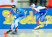 Subject: Gabriele Hirschbichler, Yuliya Skokova; Tags: Athlet, Athlete, Sportler, Wettkämpfer, Sportsman, Damen, Ladies, Frau, Mesdames, Female, Women, Eisschnelllauf, Speed skating, Schaatsen, GER, Germany, Deutschland, Gabriele Hirschbichler, Sport, Yuliya Skokova; PhotoID: 2018-01-21-0187