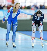 Subject: Hege Bøkko, Vanessa Herzog; Tags: AUT, Austria, Österreich, Athlet, Athlete, Sportler, Wettkämpfer, Sportsman, Damen, Ladies, Frau, Mesdames, Female, Women, Eisschnelllauf, Speed skating, Schaatsen, Hege Bøkko, NOR, Norway, Norwegen, Sport, Vanessa Bittner; PhotoID: 2018-01-21-0596
