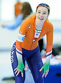 Subject: Michelle de Jong; Tags: Sport, NED, Netherlands, Niederlande, Holland, Dutch, Michelle de Jong, Eisschnelllauf, Speed skating, Schaatsen, Damen, Ladies, Frau, Mesdames, Female, Women, Athlet, Athlete, Sportler, Wettkämpfer, Sportsman; PhotoID: 2018-03-09-0244