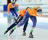 Subject: Michelle de Jong; Tags: Training, Preparation, Ausbildung, Vorbereitung, Breeding, Education, Sport, NED, Netherlands, Niederlande, Holland, Dutch, Michelle de Jong, Eisschnelllauf, Speed skating, Schaatsen, Detail, Damen, Ladies, Frau, Mesdames, Female, Women, Athlet, Athlete, Sportler, Wettkämpfer, Sportsman; PhotoID: 2018-03-10-0006