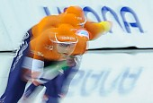 Subject: Elisa Dul, Joy Beune, Jutta Leerdam; Tags: Team, Team Pursuit, Mannschaftslauf, Verfolgungsrennen, Jagdrennen, Mannschaftsverfolgung, Teamverfolgung, Sport, NED, Netherlands, Niederlande, Holland, Dutch, Jutta Leerdam, Joy Beune, Feature, Feature, Elisa Dul, Eisschnelllauf, Speed skating, Schaatsen, Detail, Damen, Ladies, Frau, Mesdames, Female, Women, Athlet, Athlete, Sportler, Wettkämpfer, Sportsman; PhotoID: 2018-03-11-0094