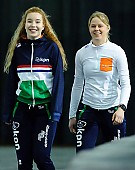 Subject: Elisa Dul, Michelle de Jong; Tags: Sport, NED, Netherlands, Niederlande, Holland, Dutch, Michelle de Jong, Elisa Dul, Eisschnelllauf, Speed skating, Schaatsen, Damen, Ladies, Frau, Mesdames, Female, Women, Athlet, Athlete, Sportler, Wettkämpfer, Sportsman; PhotoID: 2018-03-11-0110