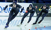 Subject: Casey Dawson, Conor Mcdermott-Mostowy, Ethan Cepuran; Tags: USA, United States, Vereinigte Staaten von Amerika, Team, Team Pursuit, Mannschaftslauf, Verfolgungsrennen, Jagdrennen, Mannschaftsverfolgung, Teamverfolgung, Sport, Herren, Men, Gentlemen, Mann, Männer, Gents, Sirs, Mister, Ethan Cepuran, Eisschnelllauf, Speed skating, Schaatsen, Detail, Conor Mcdermott-Mostowy, Casey Dawson, Athlet, Athlete, Sportler, Wettkämpfer, Sportsman; PhotoID: 2018-03-11-0138