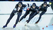 Subject: Casey Dawson, Conor Mcdermott-Mostowy, Ethan Cepuran; Tags: USA, United States, Vereinigte Staaten von Amerika, Team, Team Pursuit, Mannschaftslauf, Verfolgungsrennen, Jagdrennen, Mannschaftsverfolgung, Teamverfolgung, Sport, Herren, Men, Gentlemen, Mann, Männer, Gents, Sirs, Mister, Ethan Cepuran, Eisschnelllauf, Speed skating, Schaatsen, Detail, Conor Mcdermott-Mostowy, Casey Dawson, Athlet, Athlete, Sportler, Wettkämpfer, Sportsman; PhotoID: 2018-03-11-0140