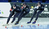 Subject: Casey Dawson, Conor Mcdermott-Mostowy, Ethan Cepuran; Tags: USA, United States, Vereinigte Staaten von Amerika, Team, Team Pursuit, Mannschaftslauf, Verfolgungsrennen, Jagdrennen, Mannschaftsverfolgung, Teamverfolgung, Sport, Herren, Men, Gentlemen, Mann, Männer, Gents, Sirs, Mister, Ethan Cepuran, Eisschnelllauf, Speed skating, Schaatsen, Detail, Conor Mcdermott-Mostowy, Casey Dawson, Athlet, Athlete, Sportler, Wettkämpfer, Sportsman; PhotoID: 2018-03-11-0147