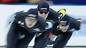 Subject: Casey Dawson, Conor Mcdermott-Mostowy, Ethan Cepuran; Tags: USA, United States, Vereinigte Staaten von Amerika, Team, Team Pursuit, Mannschaftslauf, Verfolgungsrennen, Jagdrennen, Mannschaftsverfolgung, Teamverfolgung, Sport, Herren, Men, Gentlemen, Mann, Männer, Gents, Sirs, Mister, Feature, Feature, Ethan Cepuran, Eisschnelllauf, Speed skating, Schaatsen, Detail, Conor Mcdermott-Mostowy, Casey Dawson, Athlet, Athlete, Sportler, Wettkämpfer, Sportsman; PhotoID: 2018-03-11-0170