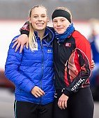 Subject: Lea-Sophie Scholz, Victoria Stirnemann; Tags: Victoria Stirnemann, Sport, Lea-Sophie Scholz, GER, Germany, Deutschland, Eisschnelllauf, Speed skating, Schaatsen, Daria Kamelkova, Damen, Ladies, Frau, Mesdames, Female, Women, Athlet, Athlete, Sportler, Wettkämpfer, Sportsman; PhotoID: 2018-11-03-0115