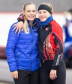 Subject: Lea-Sophie Scholz, Victoria Stirnemann; Tags: Victoria Stirnemann, Sport, Lea-Sophie Scholz, GER, Germany, Deutschland, Eisschnelllauf, Speed skating, Schaatsen, Daria Kamelkova, Damen, Ladies, Frau, Mesdames, Female, Women, Athlet, Athlete, Sportler, Wettkämpfer, Sportsman; PhotoID: 2018-11-03-0116