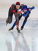 Subject: Anna Ostlender, Michelle Uhrig; Tags: Sport, Michelle Uhrig, GER, Germany, Deutschland, Eisschnelllauf, Speed skating, Schaatsen, Damen, Ladies, Frau, Mesdames, Female, Women, Athlet, Athlete, Sportler, Wettkämpfer, Sportsman, Anna Ostlender; PhotoID: 2018-11-04-0065
