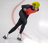 Subject: Ole Jeske; Tags: Sport, Ole Jeske, Mass Start, Herren, Men, Gentlemen, Mann, Männer, Gents, Sirs, Mister, GER, Germany, Deutschland, Eisschnelllauf, Speed skating, Schaatsen, Detail, Athlet, Athlete, Sportler, Wettkämpfer, Sportsman; PhotoID: 2018-11-04-0299